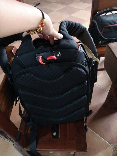 安诺格尔(ainogirl) 摄影包相机包双肩适用佳能尼康数码单反摄像机背包 单反相机包 精装功能安诺版(黑红大号) 晒单图