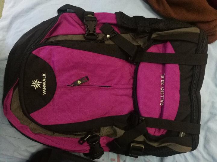 vanwalk 大容量可扩容休闲旅行包行李袋背包双肩包男旅游包学生书包健身包运动包笔记本包 灰色扩容 晒单图