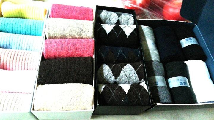 宜帛棉品袜子男士棉袜男袜纯棉中筒袜子秋冬款礼盒袜6双装 回归自然款 晒单图