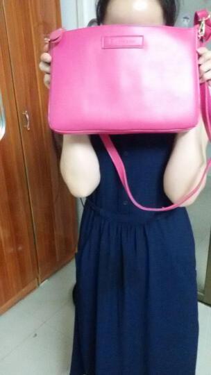 包薇尔斜挎包 女 小包韩版学生女包单肩包休闲牛皮手拿包信封包 樱花粉 晒单图