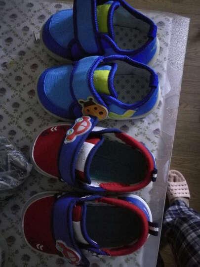 小猪快跑宝宝凉鞋女幼儿童鞋包头学步鞋软底男婴儿凉鞋机能鞋夏季 宝蓝 150码/内长约15.0cm 晒单图