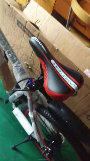 森林狼 山地车 高碳钢21速/24速26寸 学生男女单车山地自行车男双碟刹 新款变速自行车男 21速-白绿 24速-高配 晒单图