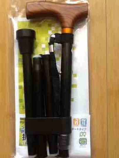 Nakabayashi 日本 铝合金拐杖老年人折叠伸缩手杖助行器助步器防滑登山拐棍 伸缩款带灯手摇发电警报器 晒单图