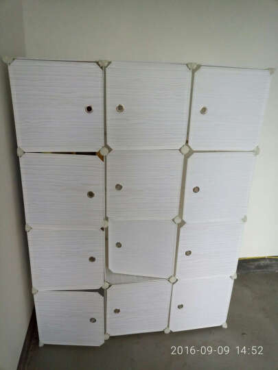 冠腾组合式简易衣柜 diy组装树脂衣橱折叠塑料收纳柜