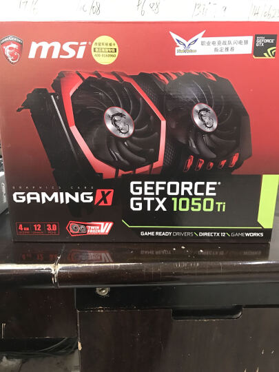 微星(MSI)GeForce GTX 1050 Ti GAMING X 4G 1290-1493MHZ 128BIT GDDR5 PCI-E 3.0 旗舰红龙 吃鸡显卡 晒单图