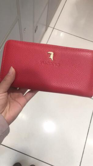 啄木鸟(TUCANO)女式包包 女士钱包长款牛皮 粉色手拿包手抓包大容量 韩版女包 4661红色 晒单图