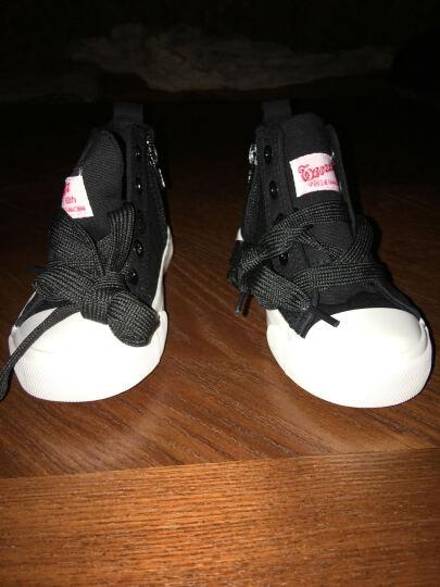 回力童鞋女男鞋新款儿童帆布鞋中大童秋季休闲布鞋 3063蓝色 36 晒单图