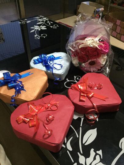 新年礼物 鲜花速递香皂花礼盒仿真玫瑰花送女友老婆情人朋友创意礼品送老师妈妈 生日礼物 手捧仿真花 晒单图