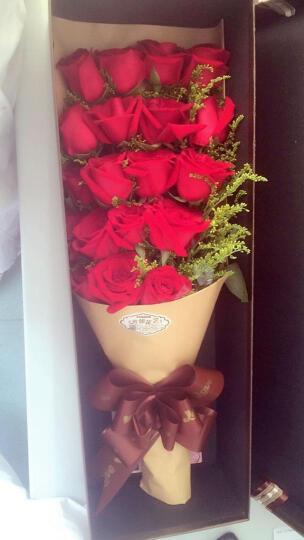 鲜花礼盒玫瑰【指定日期配送】 生日鲜花 19朵香槟玫瑰盒装 鲜花速递北京全国花店送花 19朵红玫瑰礼盒款式 晒单图