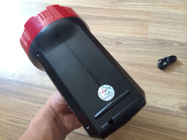 康铭  手电筒 探照灯强光远射充电矿灯 LED户外照明灯 电瓶灯 手提灯高亮度家用安防巡逻 5W容量2000MAH(2653) 晒单图