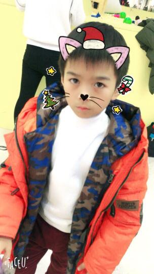 冰川熊(BINGCHUNXIONG) 儿童毛衣男女童针织衫棉线纯色打底衫童装圆领高领毛线 灰色高领 16号(建议身高126-135cm左右) 晒单图
