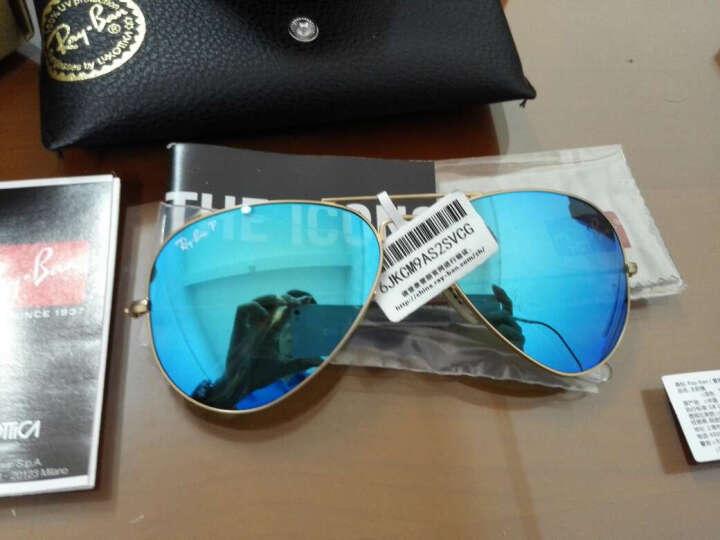 Ray-Ban 雷朋 时尚新款金色镜框蓝色镜面镀膜镜片眼镜太阳镜RB 3025 112/4L 58mm 晒单图