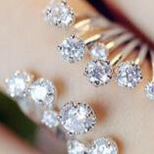 美欧全 韩版饰品 珍珠锆石开口戒指 环食指 女士指环 树叶皓石款 银色 晒单图