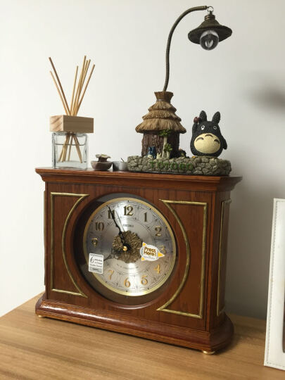 精工(Seiko)时尚创意欧式居家客厅木质音乐座钟台钟 晒单图