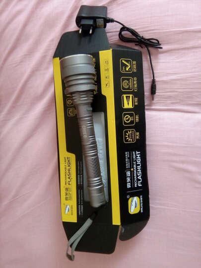 微笑鲨强光手电筒防水充电式高功率专业级高容量多用途高亮度探照灯 并联电池+直充+加长筒 晒单图