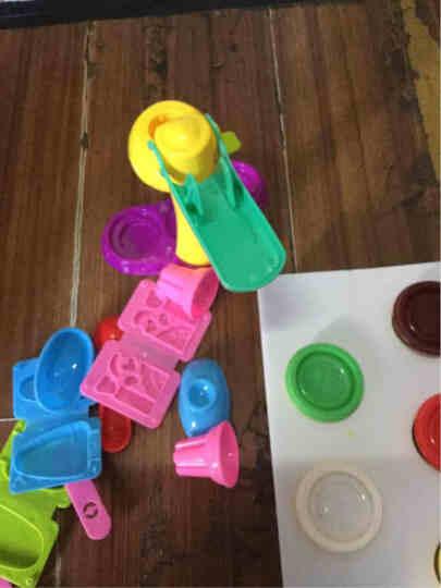 乐乐屋 10色彩泥3d橡皮泥面粉软陶套装模型工具 冰淇淋模具黏土diy手工制作陶泥 儿童节送礼礼物 8818B烧烤台 晒单图