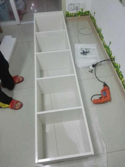 雅霏 组合书柜书橱板式层架柜子储物柜带门白色书架办公书柜 40宽A款 A款40宽+玻璃 晒单图