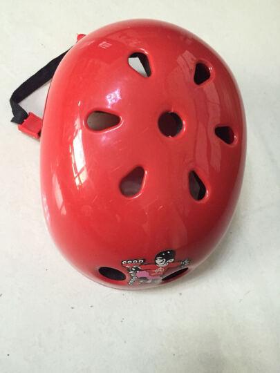 溜冰鞋儿童A3加厚头盔 轮滑鞋头盔 旱冰鞋 滑轮鞋塑料头盔自行车头盔保护头部3到16岁带 蓝色 S码(适合3-7岁)配带 晒单图