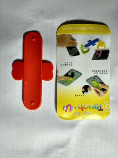 哈马 U型懒人手机支架 创意贴手机平板车载通用电影床头支架底座 可定制logo 紫色 晒单图