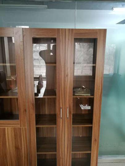 雅霏 组合书柜书橱板式层架柜子储物柜带门白色书架办公书柜 80宽B款双玻璃 ABC组合200厘米宽 晒单图