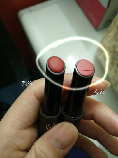 得鲜口红唇膏遮瑕棒 气垫染色唇彩 7# 水润 樱桃粉色 晒单图