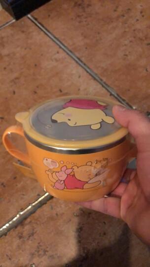 迪士尼(Disney)维尼儿童不锈钢碗 婴儿碗 儿童餐具宝宝饭碗汤碗沙拉碗辅食碗 双手柄面碗 650ml 韩国进口 晒单图