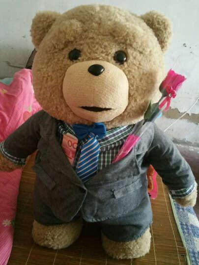 魔法龙  美国电影会说话的ted泰迪熊公仔抱枕布娃娃毛绒玩具熊抱抱熊大狗熊猫玩偶礼物 新款情人版+录音功能 60厘米熊+赠品套餐 晒单图
