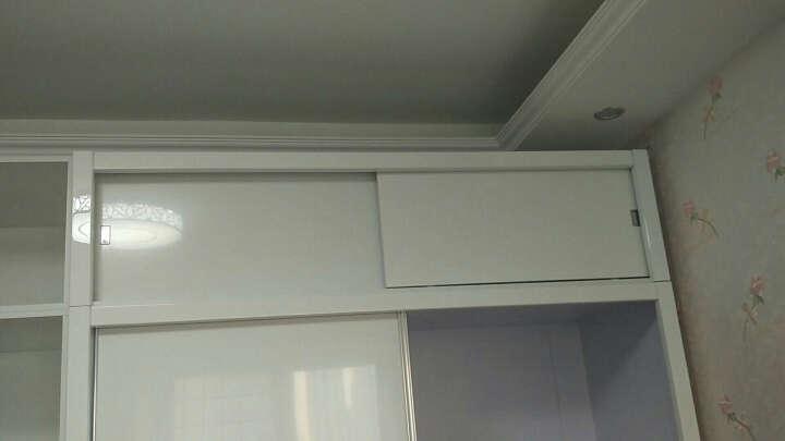 欧尚杰(oushangjie)衣柜 现代卧室双门推拉大衣橱 1.6米衣柜+转角柜+顶柜(送转角顶柜) 晒单图