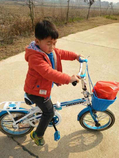 宝贝龙 小孩子儿童自行车知更鸟儿童折叠自行车学生小孩子12/16寸便携单车童车多省包邮 知更鸟蓝色带辅助轮 16 晒单图
