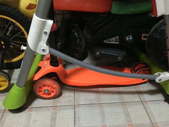 美洲狮(COUGAR)儿童滑板车 一秒折叠3挡升降全轮闪光小孩扭扭踏板车 粉红色 晒单图