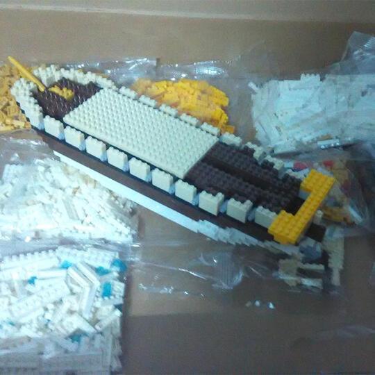 金星达 颗粒积木 拼插玩具 颗粒组装3D仿真建筑动物模型塑料礼物 辽宁号航空母舰48*8*8cm1300片 晒单图