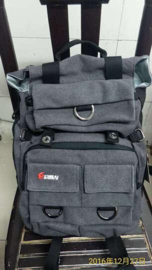 锐玛(EIRMAI) EMB-SD02 单反包相机包双肩摄影包数码帆布防水背包 d90 3100d 炭灰色 晒单图