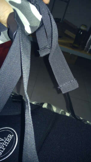 暗号双肩背包个性迷彩帆布大容量休闲运动旅行背包电脑包书包 涂鸦蓝小号版 晒单图