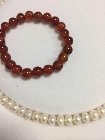 莱茵 天然淡水珍珠项链女四面强光饱满馒头圆珍珠项链送妈妈6218 8-9mm优美珠45cm 晒单图