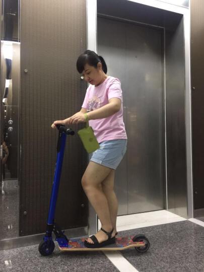 PUKKA轻量级原木踏板电动滑板车迷你折叠滑板电动自行车男女士儿童成人代驾代步车锂电 深蓝色 两轮款 25公里 晒单图