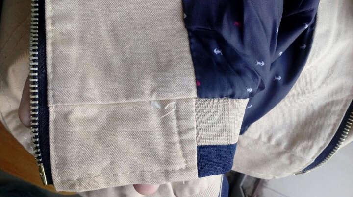 Mzmonline  夹克外套男夏款2017夏款新品潮男防晒夹克外套休闲工艺潮流夹克 藏青色 XL 晒单图