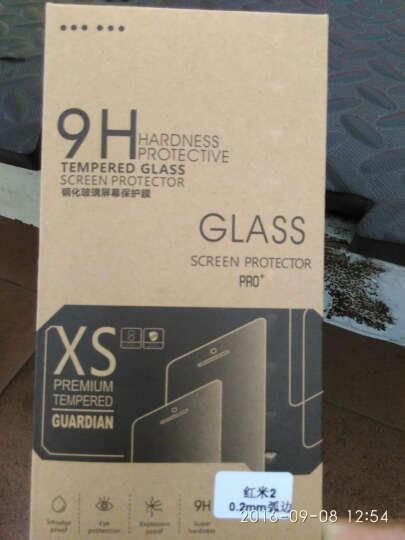 奔信 红米2钢化膜手机玻璃保护贴膜+送手机壳 适用于小米红米2/红米2A增强版/4.7英寸 弧边0.2mm钢化膜(送壳) 晒单图