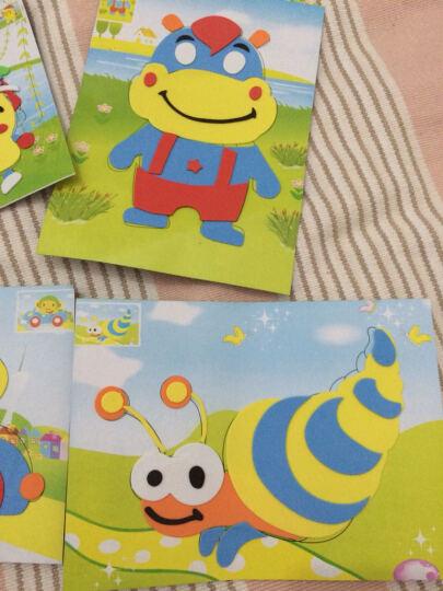 eva贴画套装宝宝幼儿童手工制作玩具3D立体贴纸贴画幼儿园DIY拼图 动物萌照(8张大钻石贴画) 晒单图
