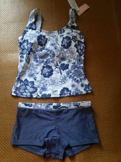 梦芭莎分体泳衣 女士清雅中国风青花背心泳装 013013238 蓝色印花 L 晒单图