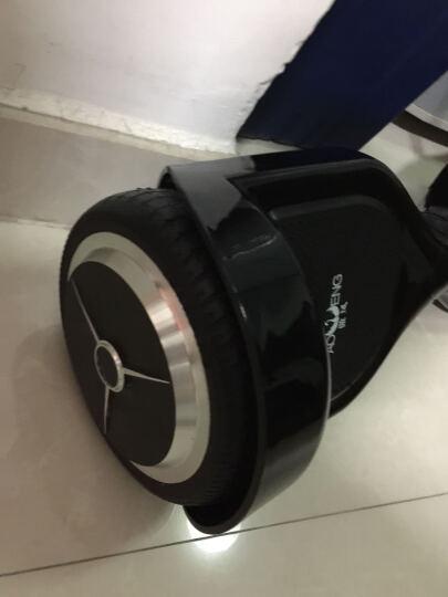 傲凤 儿童平衡车 双轮成人电动代步车两轮智能体感漂移车思维车 10吋音乐蓝牙版-闪电黑 晒单图