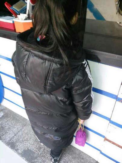 笛莎童装女童儿童袜子新款百搭糖果色堆堆袜中大童棉袜283 酒红 S 晒单图