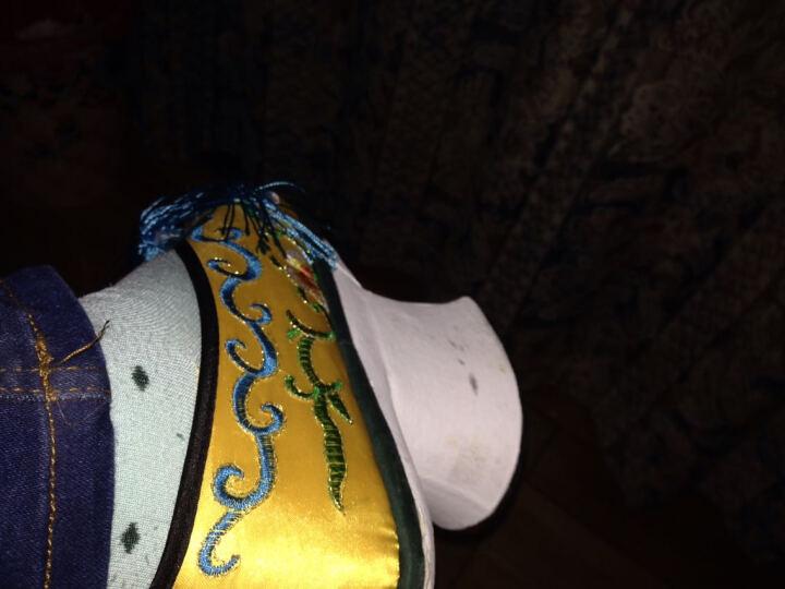戊甄斯 清朝皇家贵族古装气质 鞋花盆底格格鞋 木底鞋旗鞋 清朝格格娘娘服装搭配鞋子 粉红色 33 晒单图