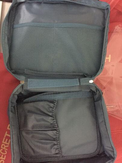 喜家家 便携旅行包女士防水收纳袋旅游出差打包化妆包洗漱用品 天蓝色 晒单图