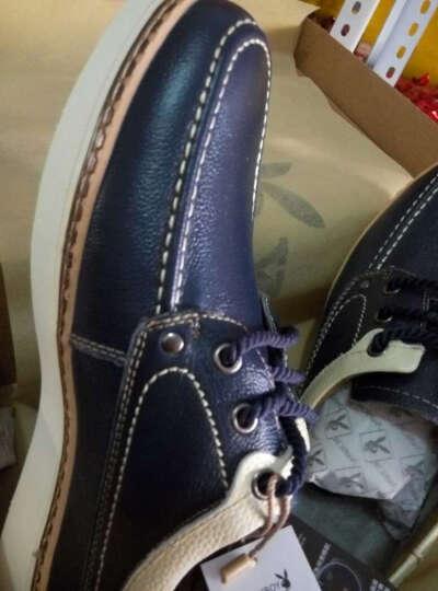 花花公子(PLAYBOY)新款男鞋 男士加绒韩版运动休闲鞋男棉鞋透气皮鞋潮流板鞋男 深蓝色 41 晒单图