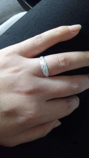 瑞诺 990足银情侣戒指女韩版可刻字开口对戒指环情人节礼物送女友 炫舞开口戒指 晒单图