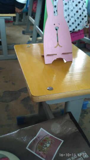 哈马 时尚创意可爱越狱兔手机支架 平板电脑支架 木质手机支架 懒人支架 木纹粉 晒单图