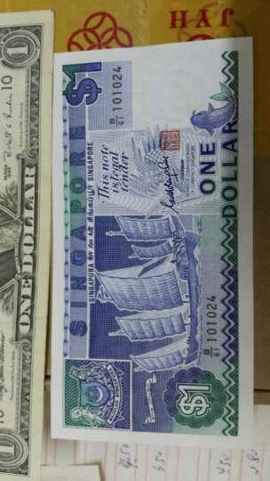 金永恒 外国钱币 亚洲全新新加坡1元帆船版钱币 1元  单张 晒单图