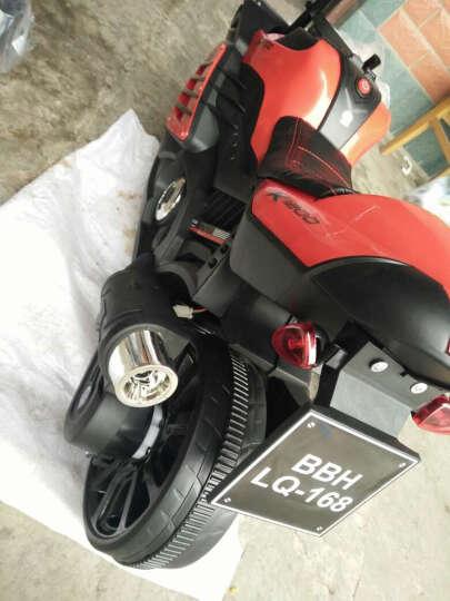 宝贝虎 新款儿童电动车三轮车摩托车宝宝可坐玩具车小孩电瓶车童车1-8岁 白色+双电双驱+音乐+皮座位 晒单图