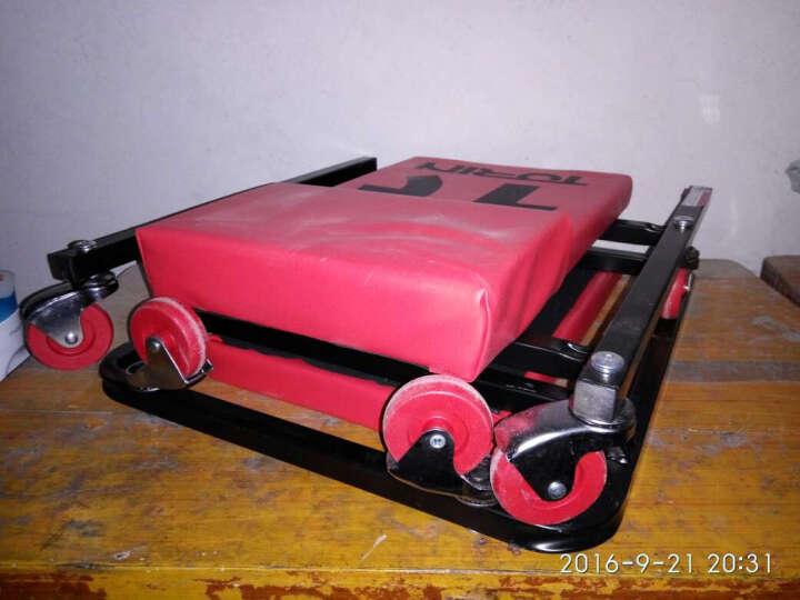 通润(TORIN)修车板 修车躺板修理板滑板车睡板 6轮红色可折叠专业汽车维修工具 晒单图