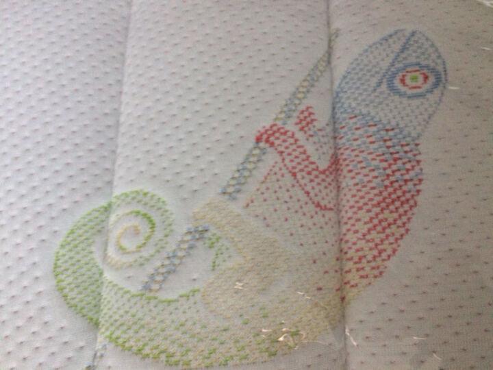 北极熊(POLAR BEAR) 【北极熊婴儿床垫】天然椰棕床垫/乳胶床垫 可拆洗可定制 变色龙款 10CM 120*60 晒单图